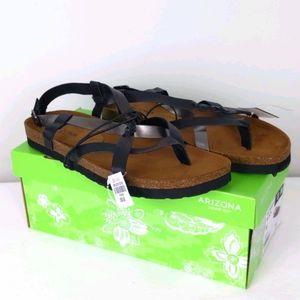 Arizona Jean Co- Black gladiator sandals- NWT